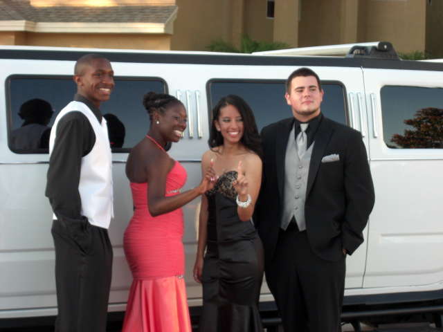 Group with Hummer Limo