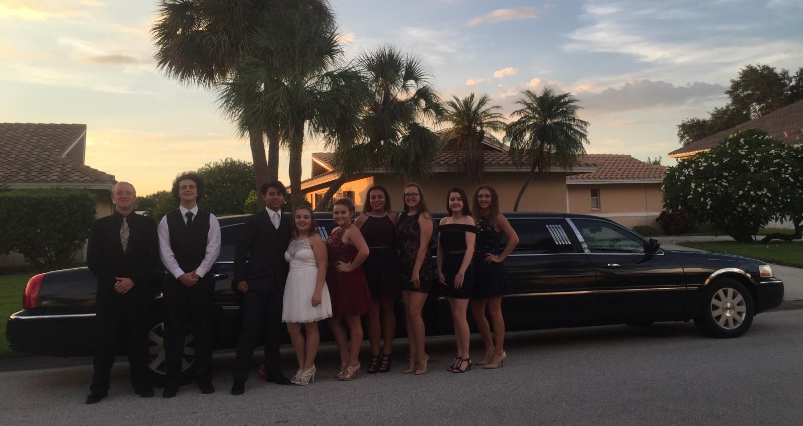Homecoming Group with Town Car Limo