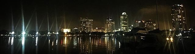 Skyline of St. Pete at night